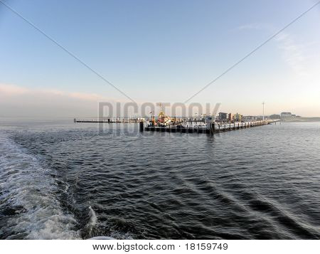 Ferries in the Wadden Sea