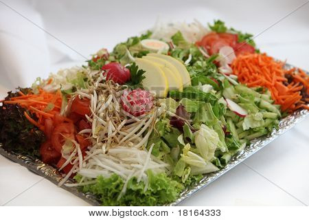 Vegetable Plate With Plenty Of Vegetables