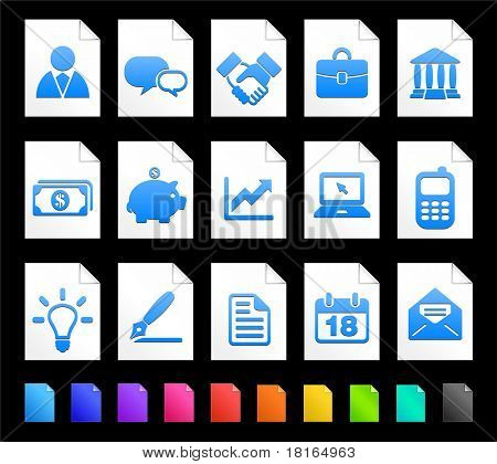 Economy Icon on Document Icon Collection Original Illustration