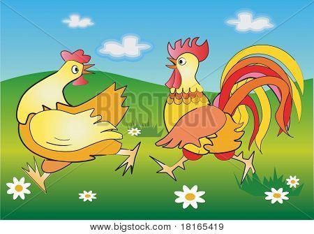 Running cockerel
