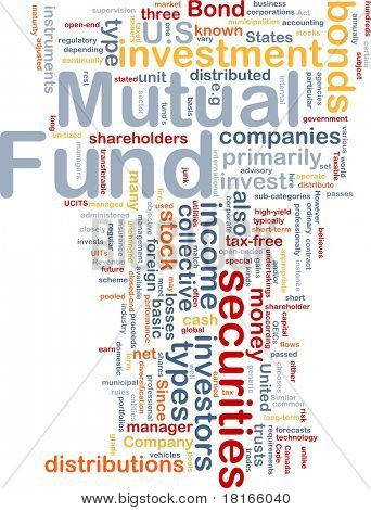 Background concept wordcloud illustration of mutual fund