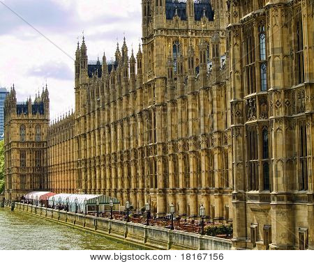 Westminster Palace Overlooking The Thames