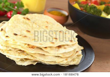 Indian flatbread called Chapati