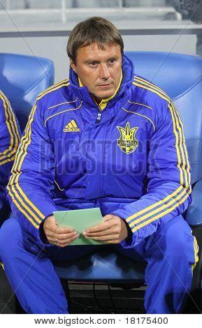 Ukraine National Soccer Team 2Nd Coach Aliaksandr Hatskevich
