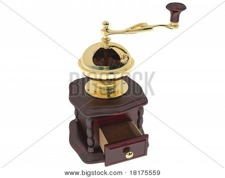 coffee grinder of mahogany
