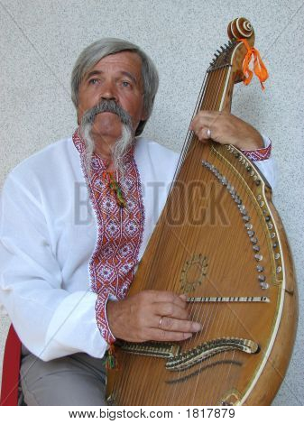 Senior Ukrainian Folk Travelling Musician 01