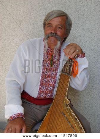 Elder Ukrainian Bandurist Muscian 10