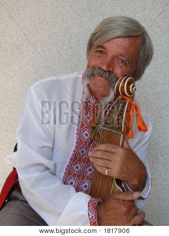 Elder Ukrainian Bandurist Muscian 12