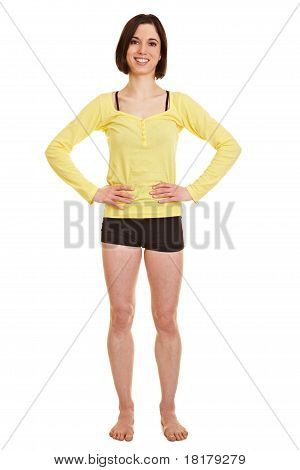Young Happy Woman In Sportswear