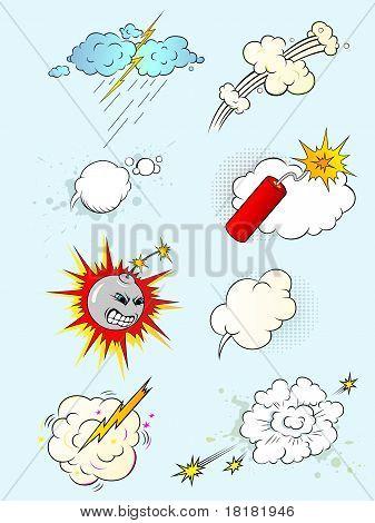 Explosões de quadrinhos