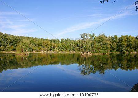 Scenic lake view