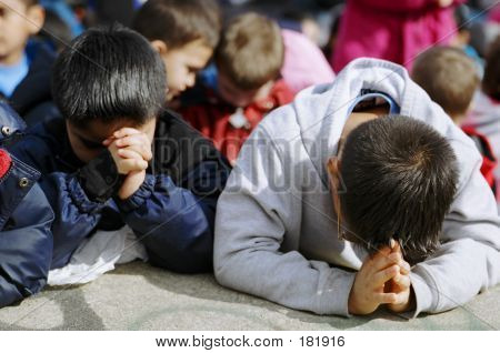 Boys Praying
