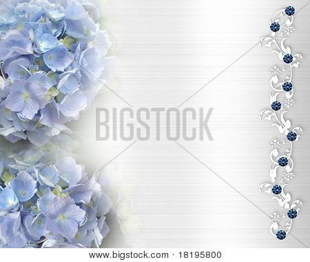 Wedding invitation Hydrangea