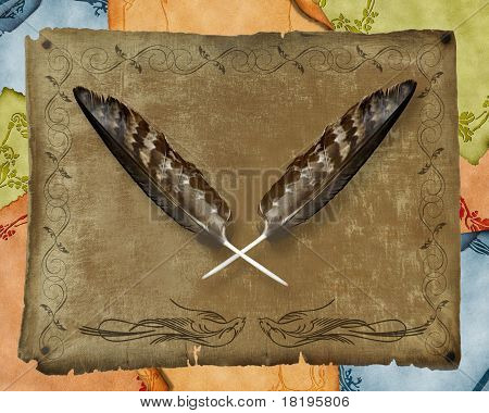 Golden eagle feathers background