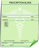 stock photo of prescription pad  - Blank prescription form  - JPG