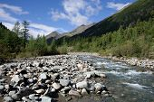 Shumak river. Siberia. East Sayan Mountains. Buryat Republic.