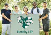 Balance Health Living Lifestyle Vitality Wellness poster