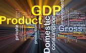 pic of macroeconomics  - Background concept wordcloud illustration of GDP glowing light - JPG