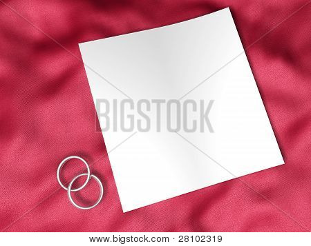 White Paper And Wedding Ring