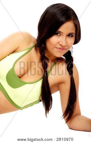 Girl In Gym Wear