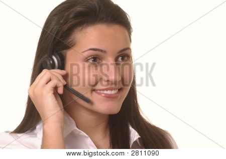 Pretty Customer Service Operator