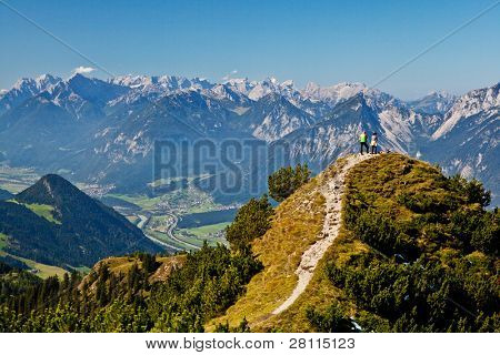 Overview in the tyrolean alps in Austria