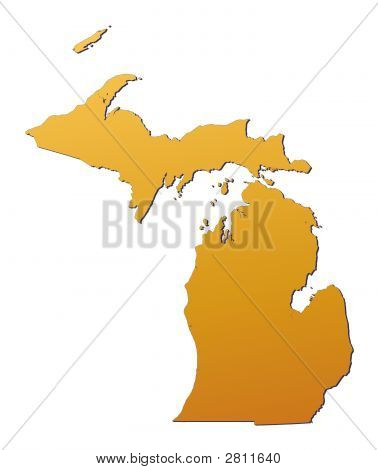 Mapa de Michigan (EUA)