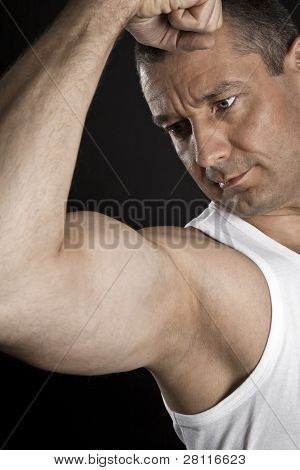 An image of a handsome young muscular sports man