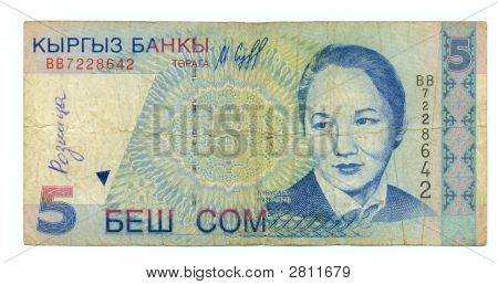 Five Som Bill Of Kirghizia,1997