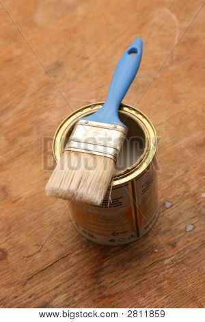 Paintbrush On A Can
