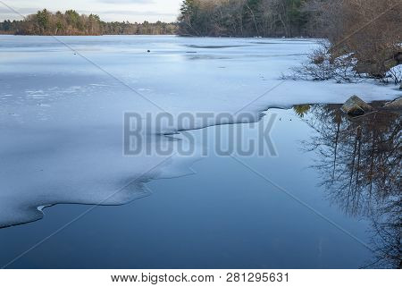 Thin Layer Of Ice On