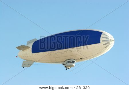Blue Copy Space On Blimp To Advertise Your Message
