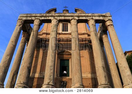 Temple Of Antoninus And Faustina At Rome