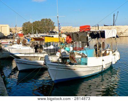 Fishing Boats At Rethymnon