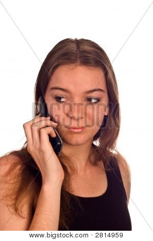 Young Model On Cell Phone