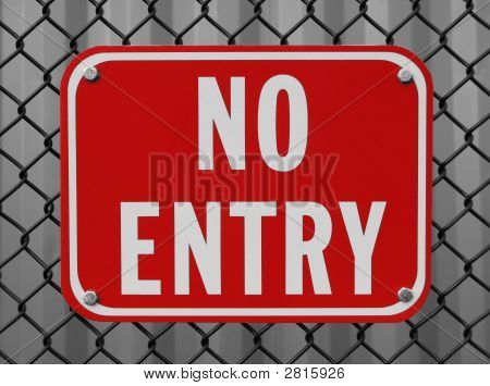 Red No Entry Sign