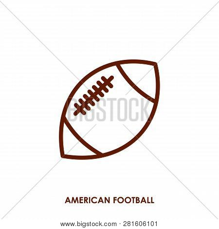 American Football Icon In Trendy