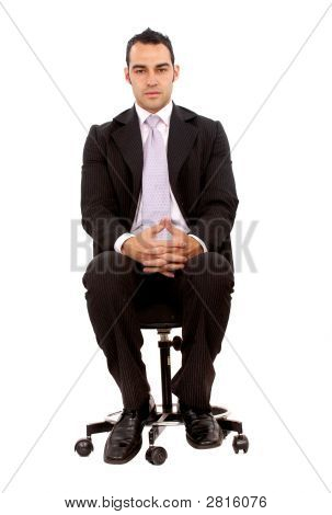 Business Man Sitting Down
