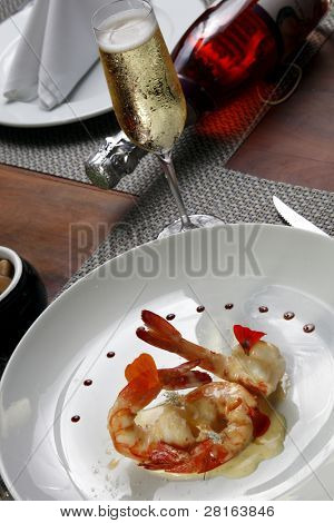 shrimp with wine