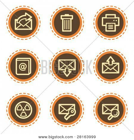 E-mail web icons set 2, vintage buttons