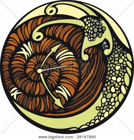 Snail and the time.