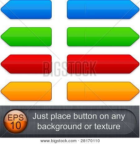 Blank web buttons for website or app. Vector eps10.