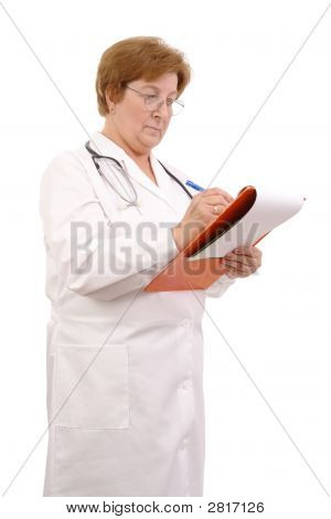 Family Doctor With Notepad