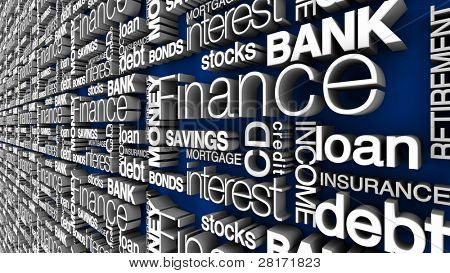 Financial 3D Words