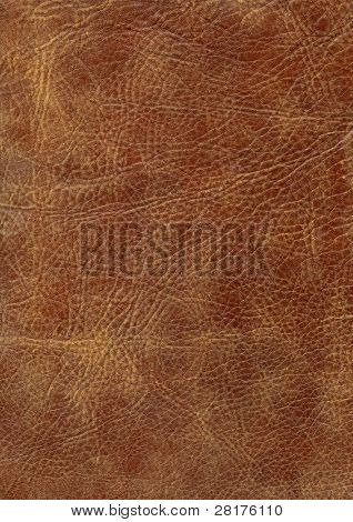 Close-up brown leather texture to background