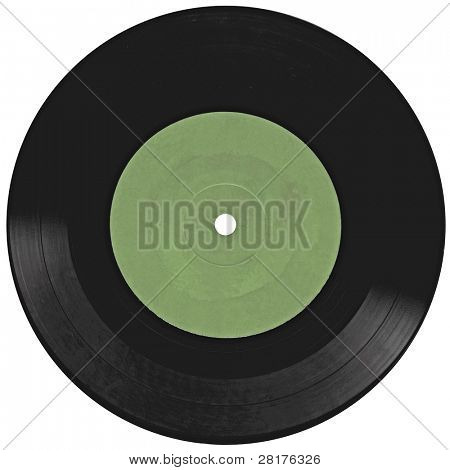 Vintage vinyl record isolated on white background