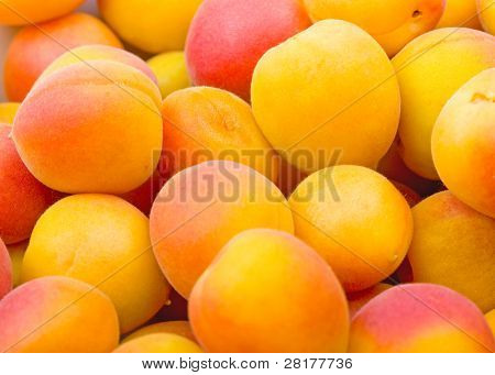 Fresh natural apricot background