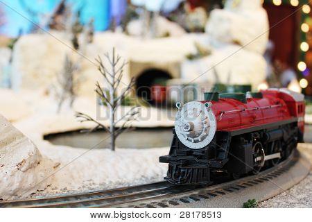 Miniature train in Santa's village