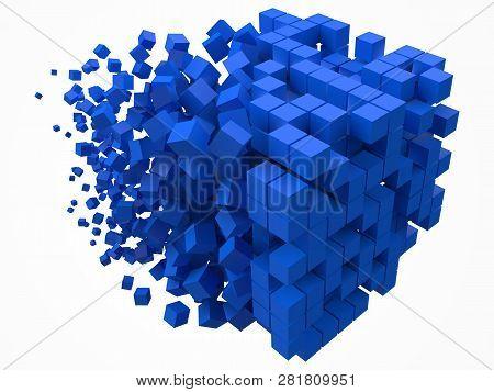 Big Cubic Data Block Made