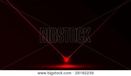 Vector de luz láser